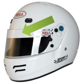 Bell - Visor Sticker Strip Checkered H