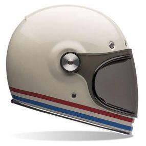 MC-hjelm fullface - Bell Bullitt Stripes Pearl White