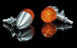 MC Blinklys - Bullet 1 - Chrome/Orange