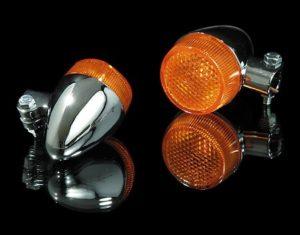 MC Blinklys - Bullet 2 - Chrome/Orange