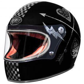 MC-hjelm fullface - Premier Trophy NX Silver Chromed